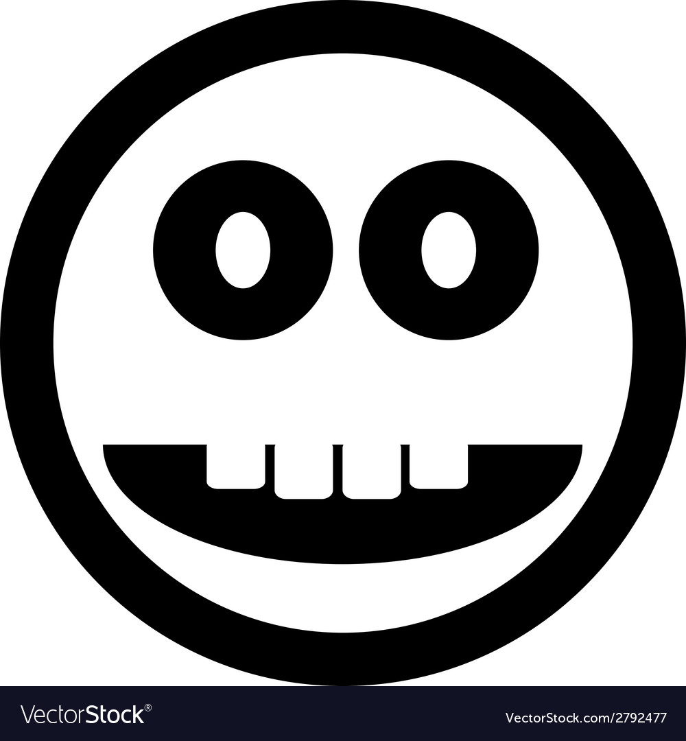 Smile face circle button vector | Price: 1 Credit (USD $1)