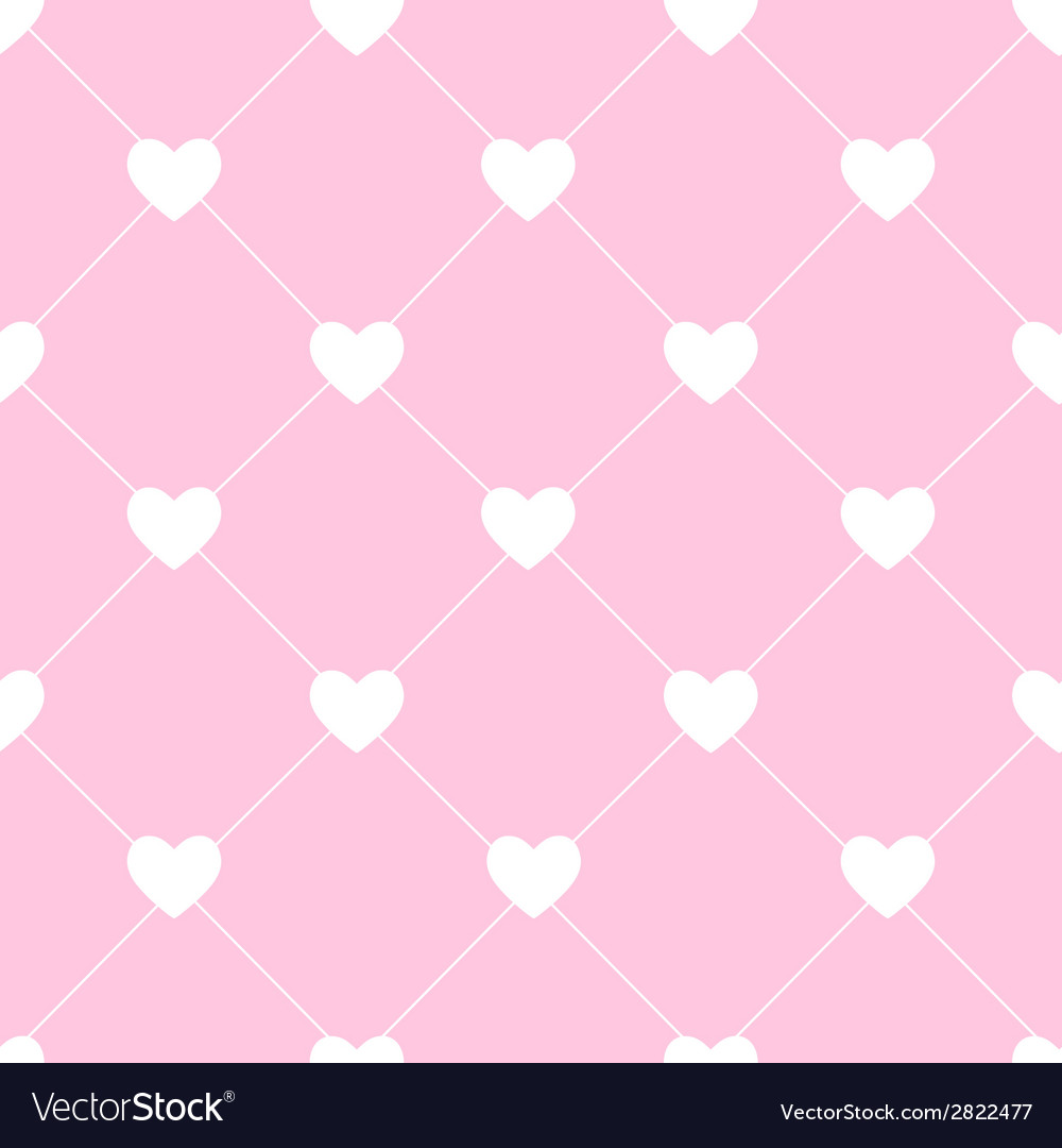 Valentines day seamless hearts pattern vector   Price: 1 Credit (USD $1)