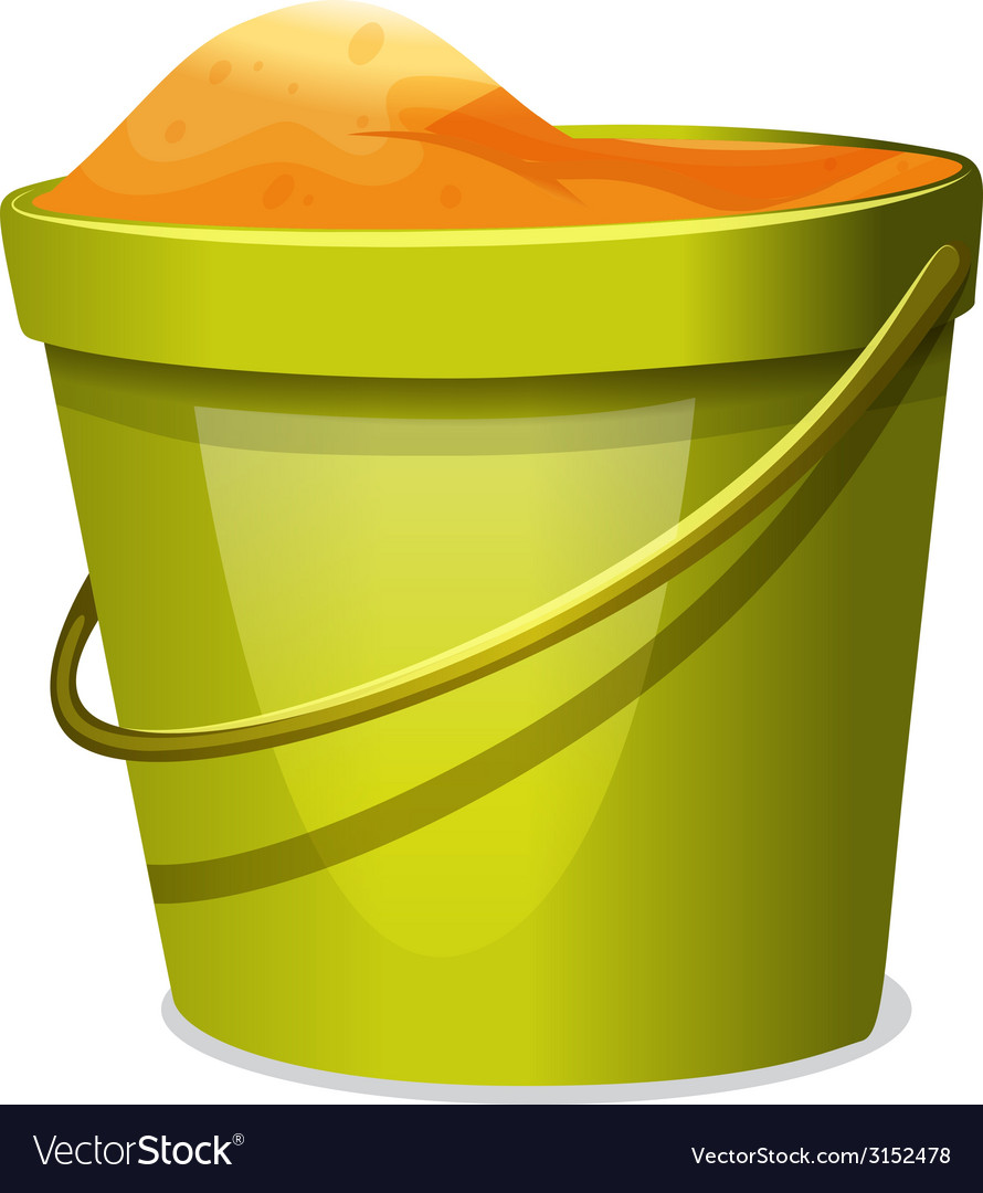 A pail with sand vector | Price: 1 Credit (USD $1)