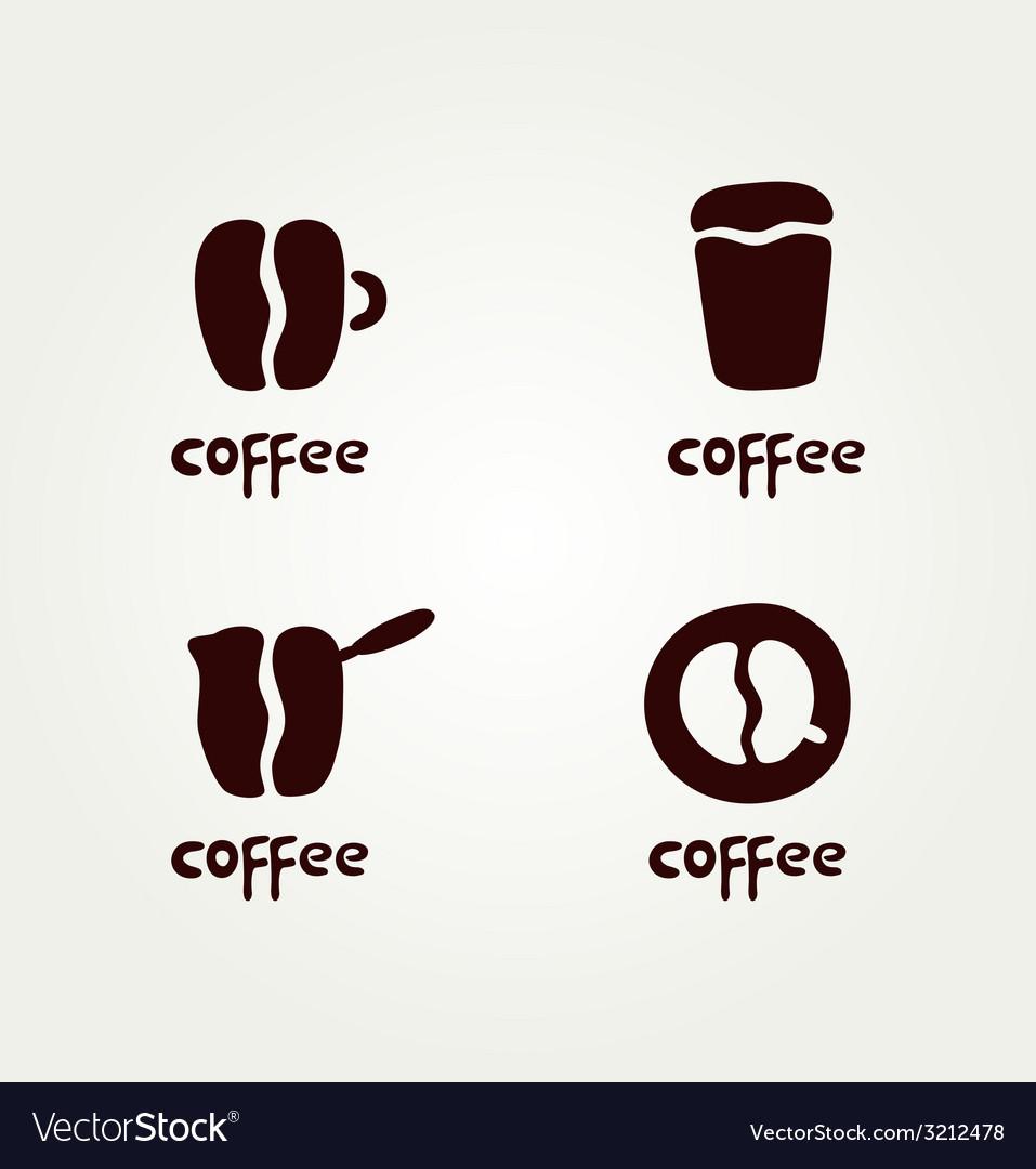 Abstract symbols of creative coffee vector | Price: 1 Credit (USD $1)
