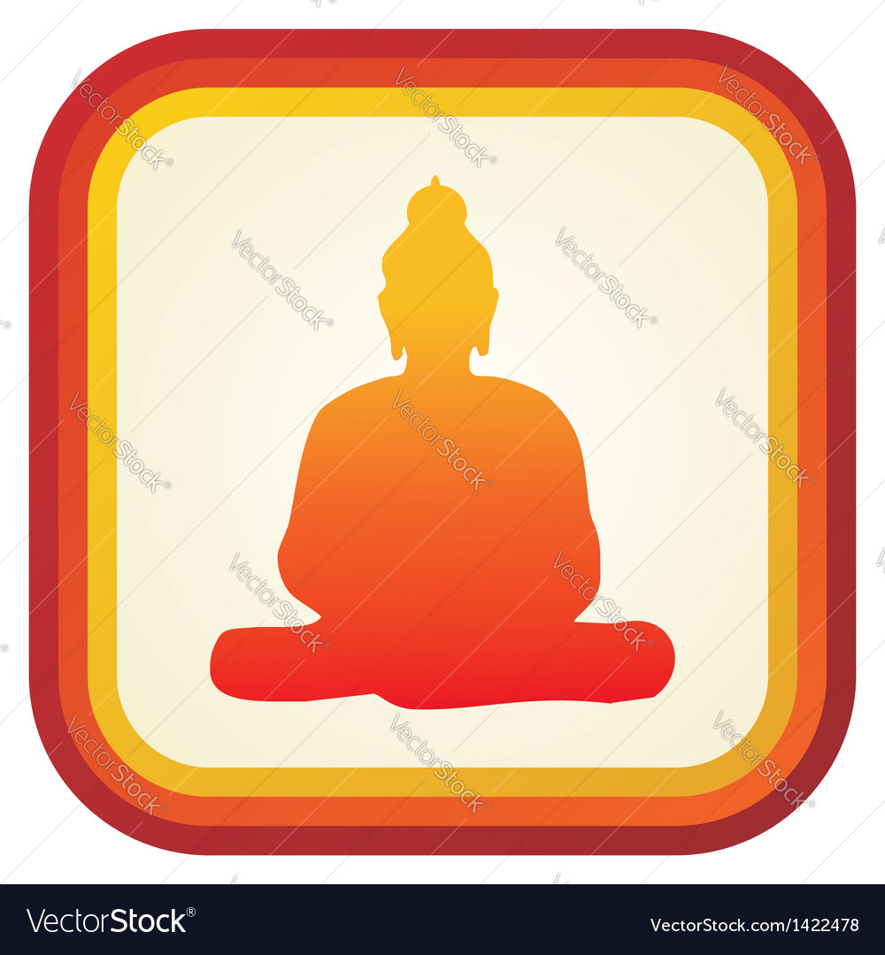 Buddha silhouette ilustration vector | Price: 1 Credit (USD $1)