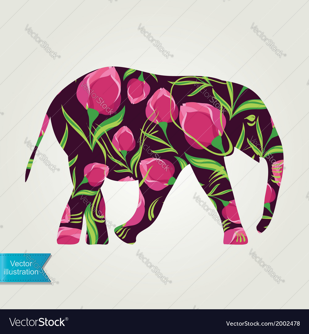 Cartoon elephant vector | Price: 1 Credit (USD $1)