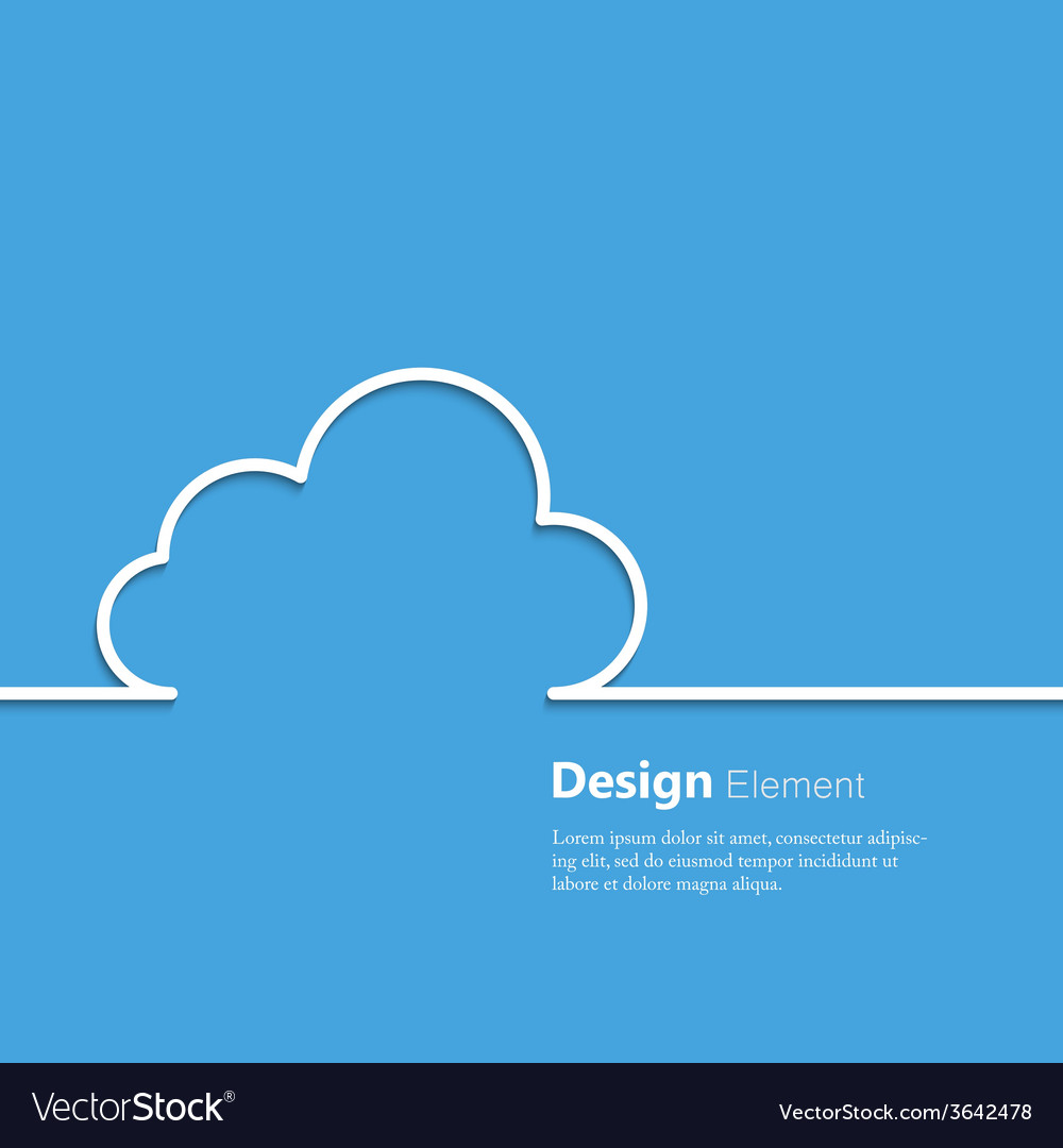 Cloud design element vector | Price: 1 Credit (USD $1)