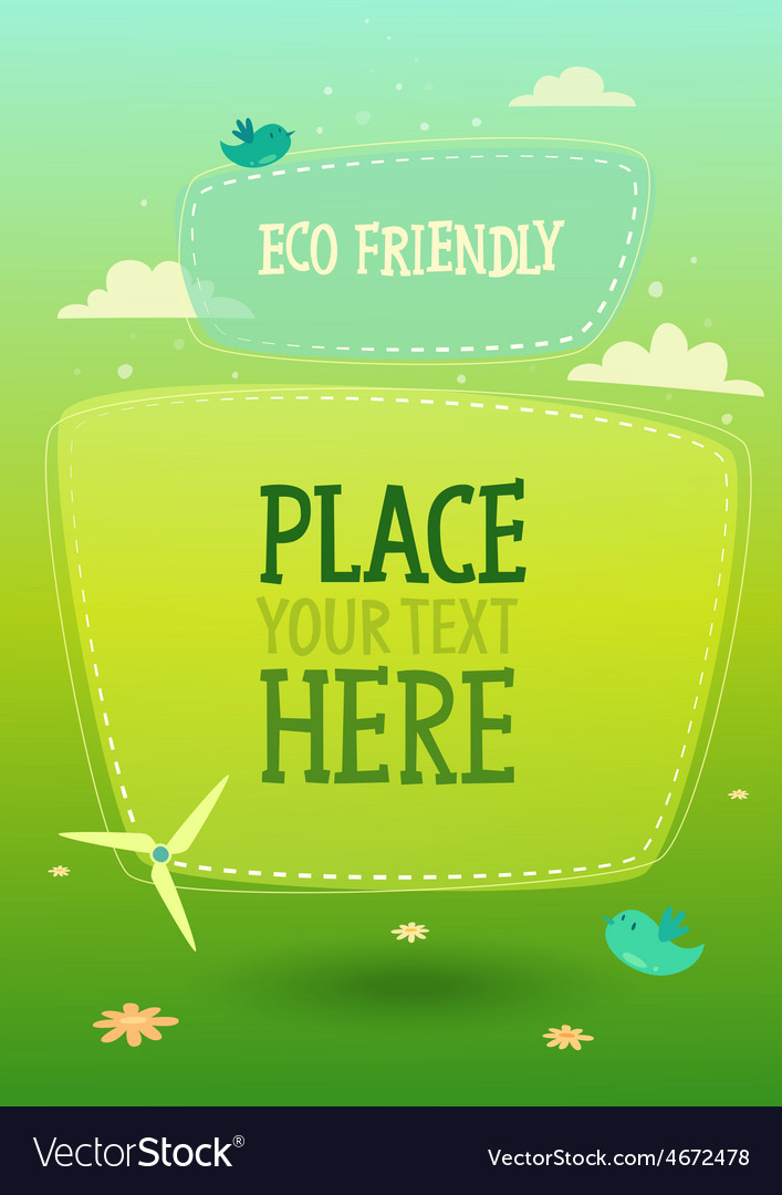 Eco signboard banner background vector | Price: 1 Credit (USD $1)