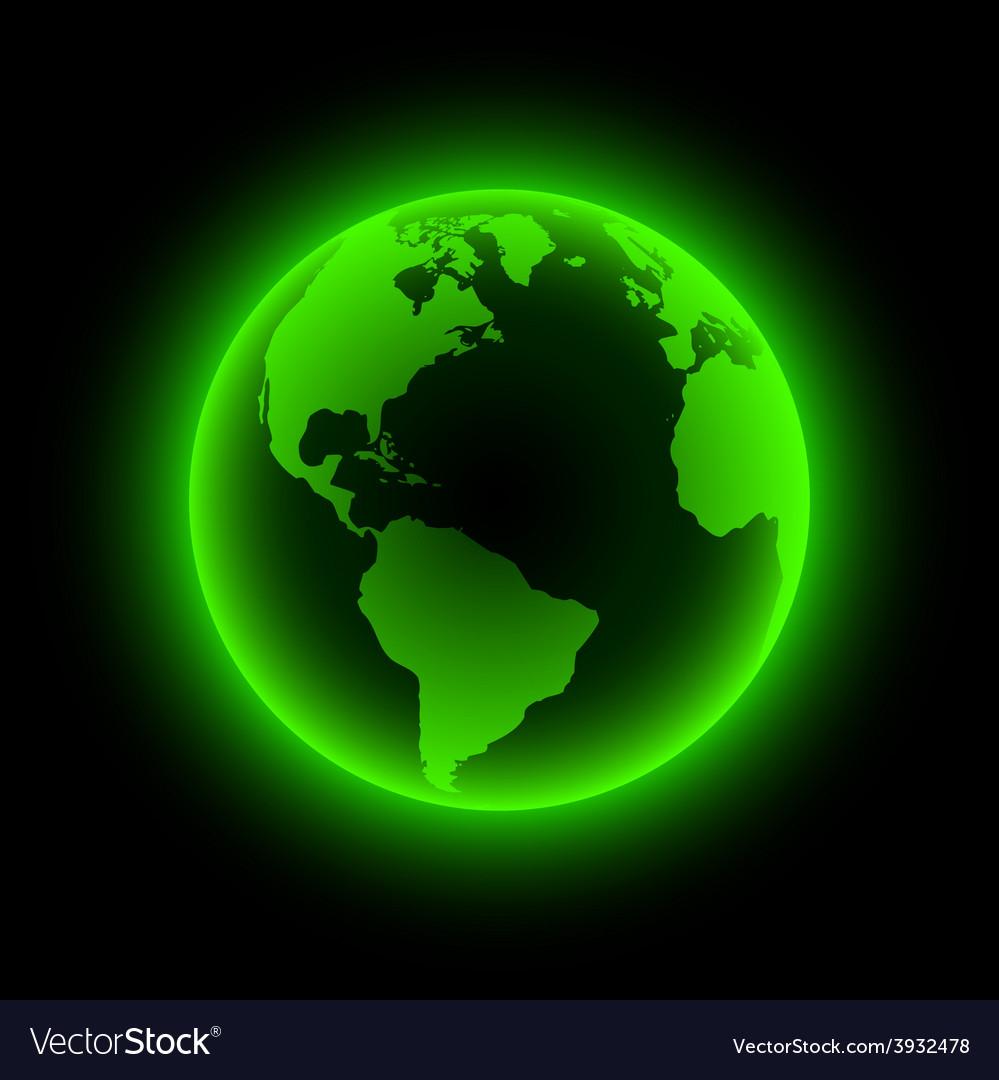 Neon earth vector | Price: 1 Credit (USD $1)
