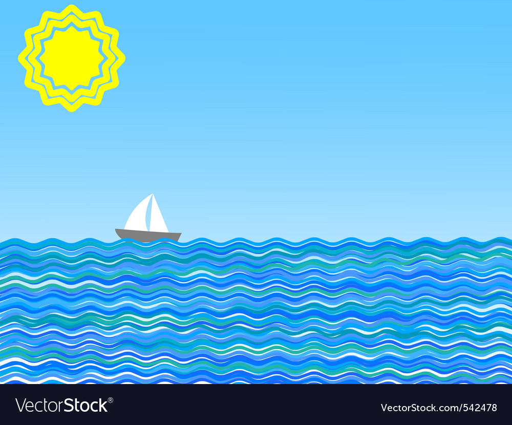 illustration of a sail on a sunny day vector | Price: 1 Credit (USD $1)