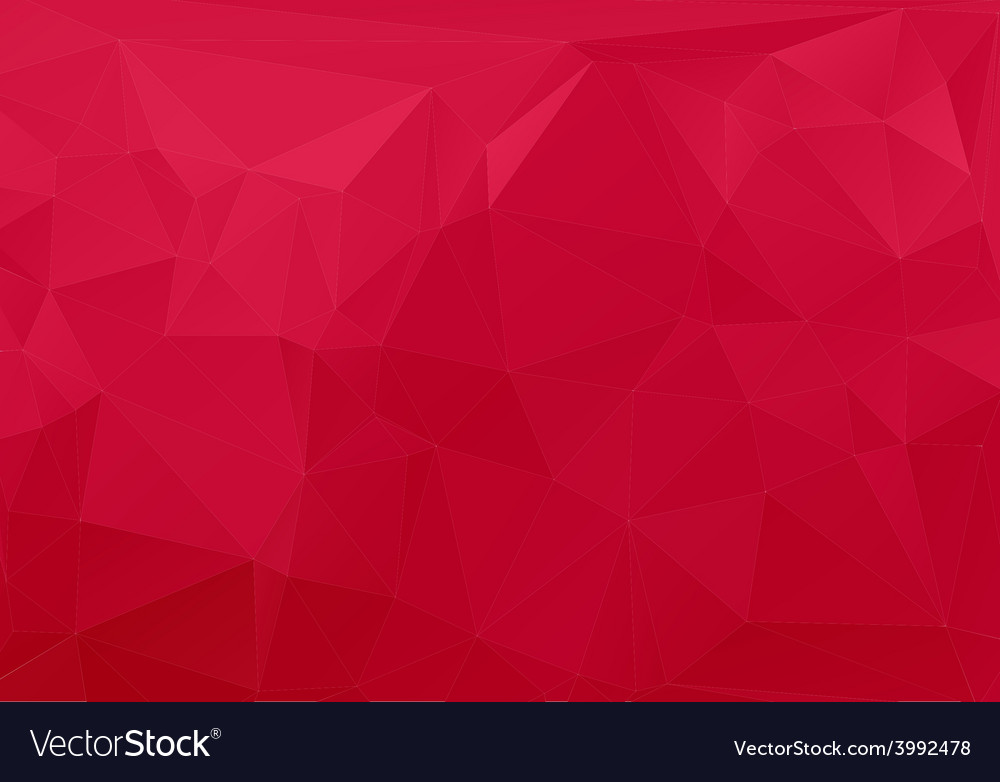 Red white polygonal mosaic vector | Price: 1 Credit (USD $1)