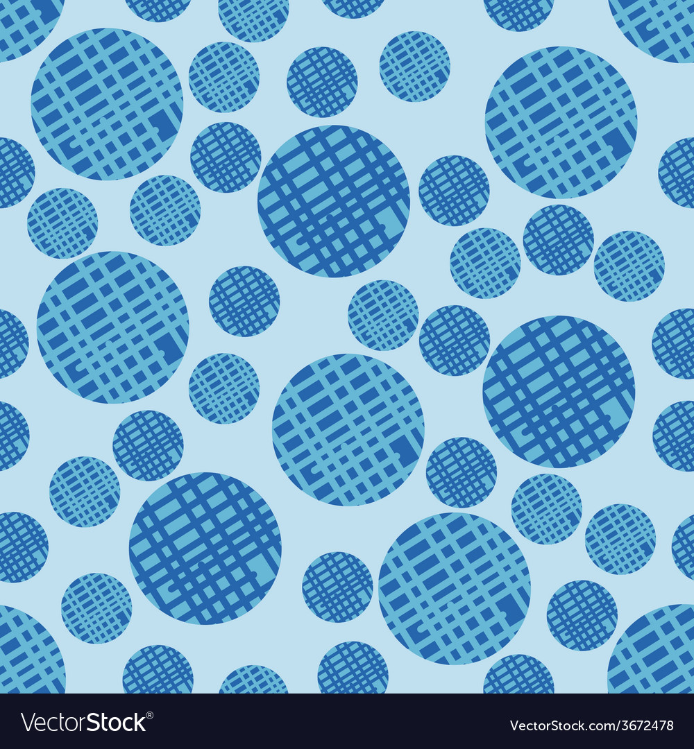 Seamless pattern with bubbles background in blue vector   Price: 1 Credit (USD $1)
