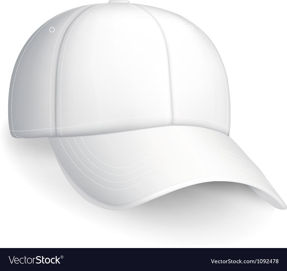 White baseball cap vector | Price: 1 Credit (USD $1)