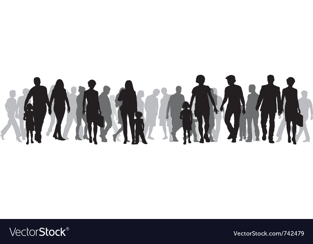 A group of people vector