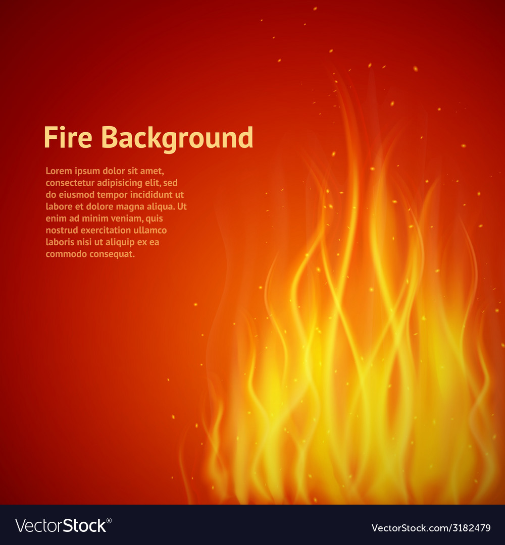 Flame red background vector | Price: 1 Credit (USD $1)