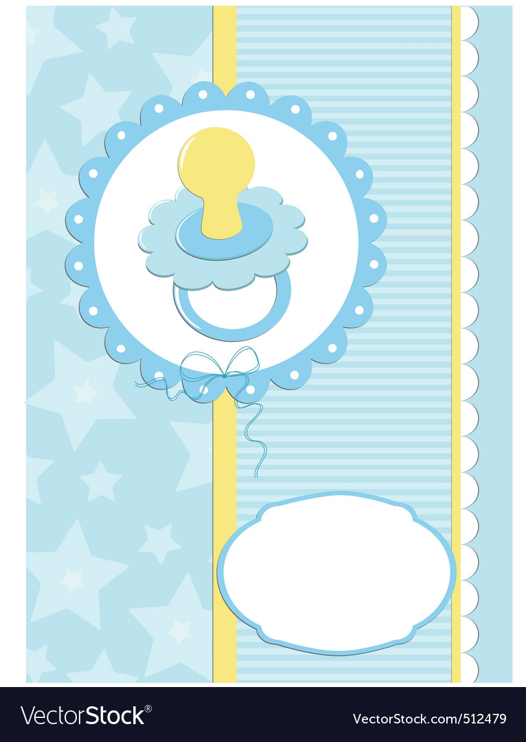 Infant greeting card vector | Price: 1 Credit (USD $1)