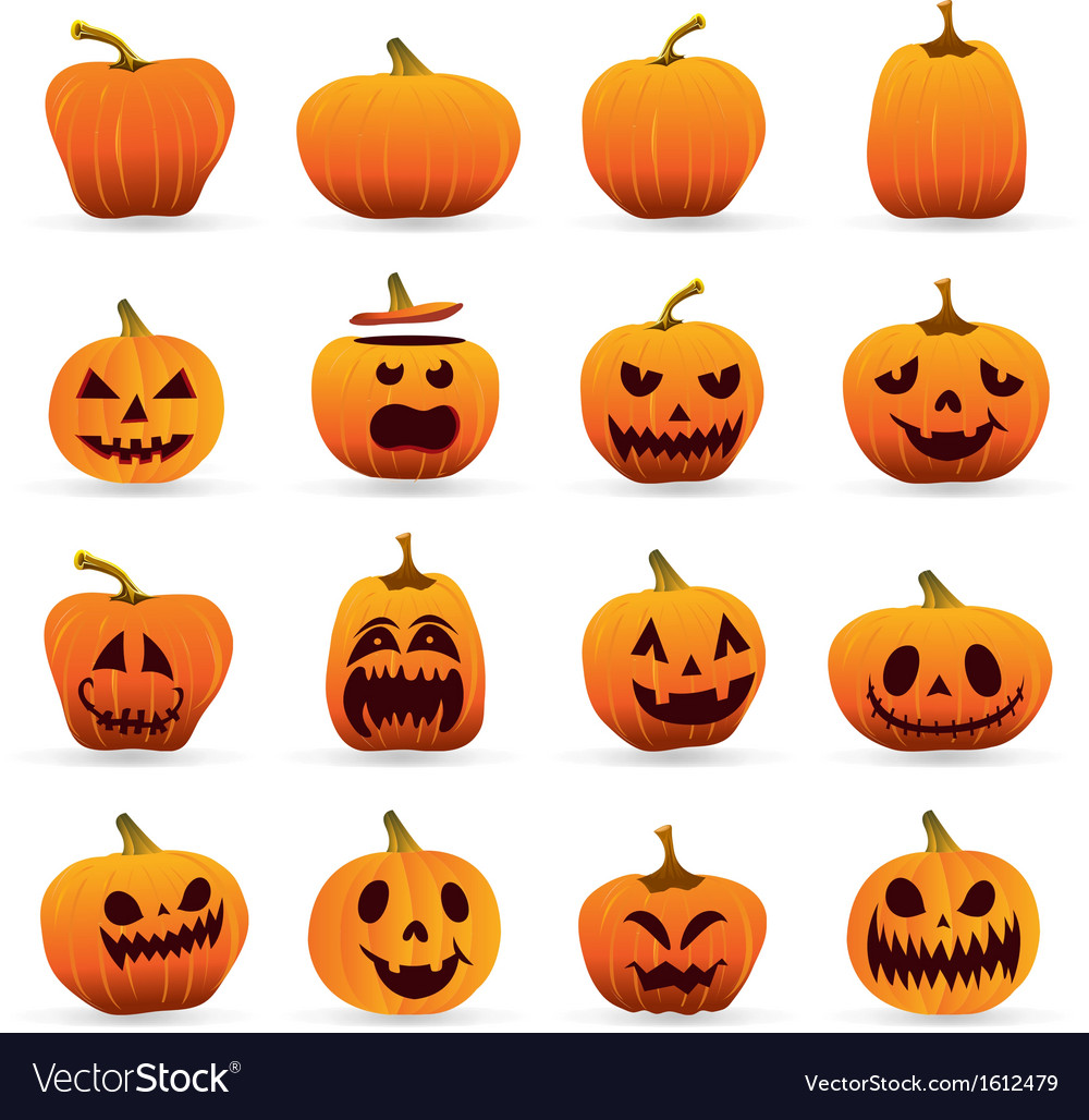 Jack o lantern icons vector | Price: 1 Credit (USD $1)