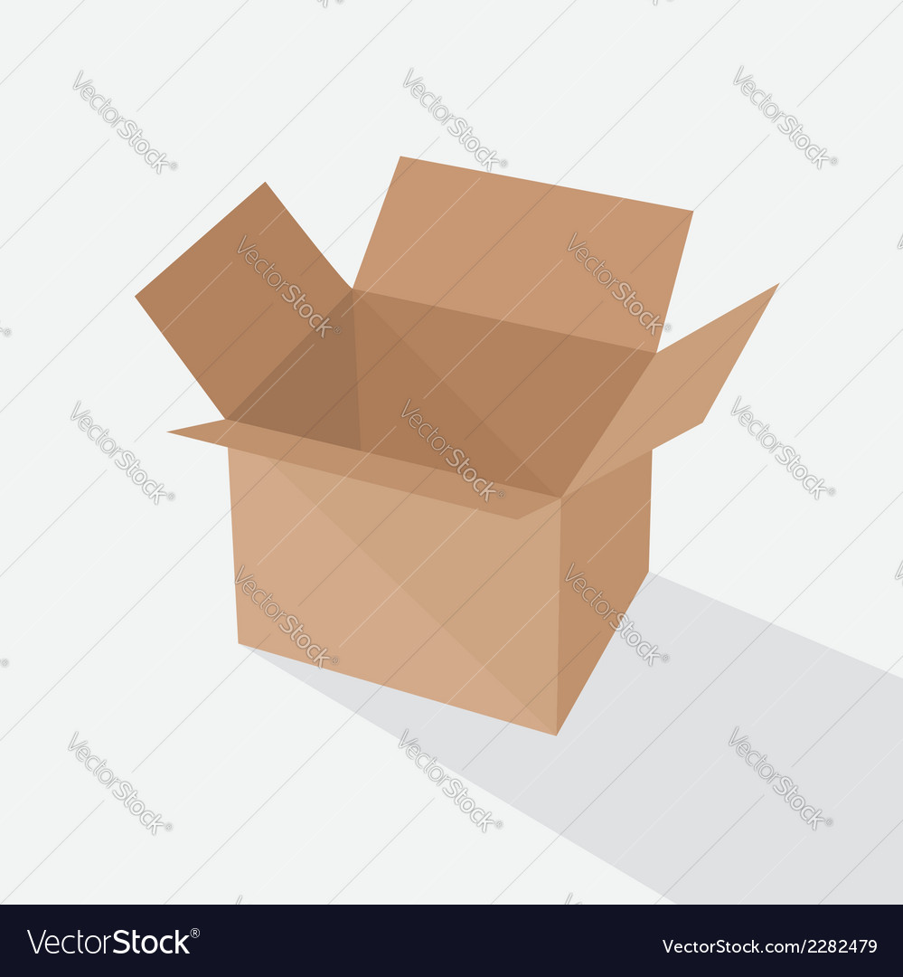 Recycle brown box packaging vector | Price: 1 Credit (USD $1)