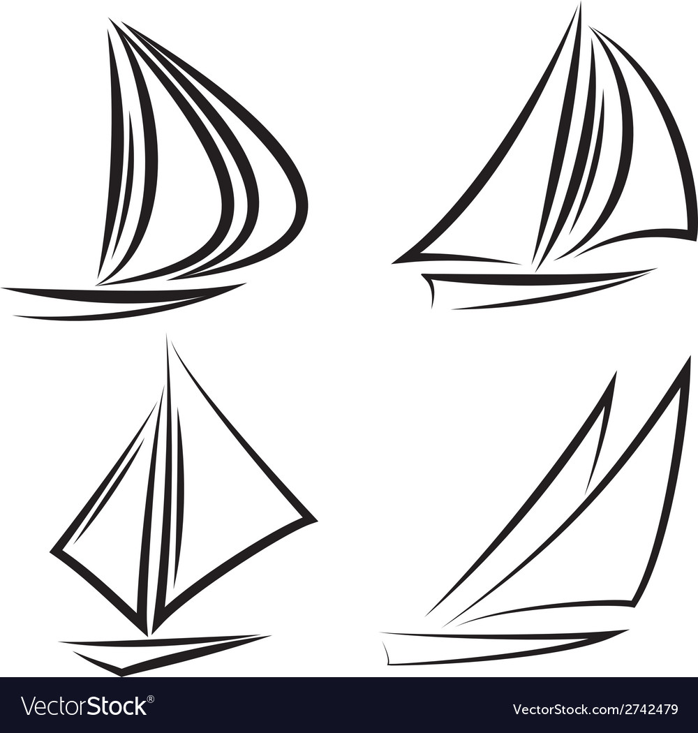 Sailboats vector | Price: 1 Credit (USD $1)