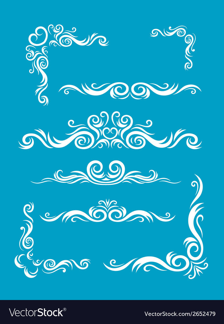 Various bordes decoration vector | Price: 1 Credit (USD $1)