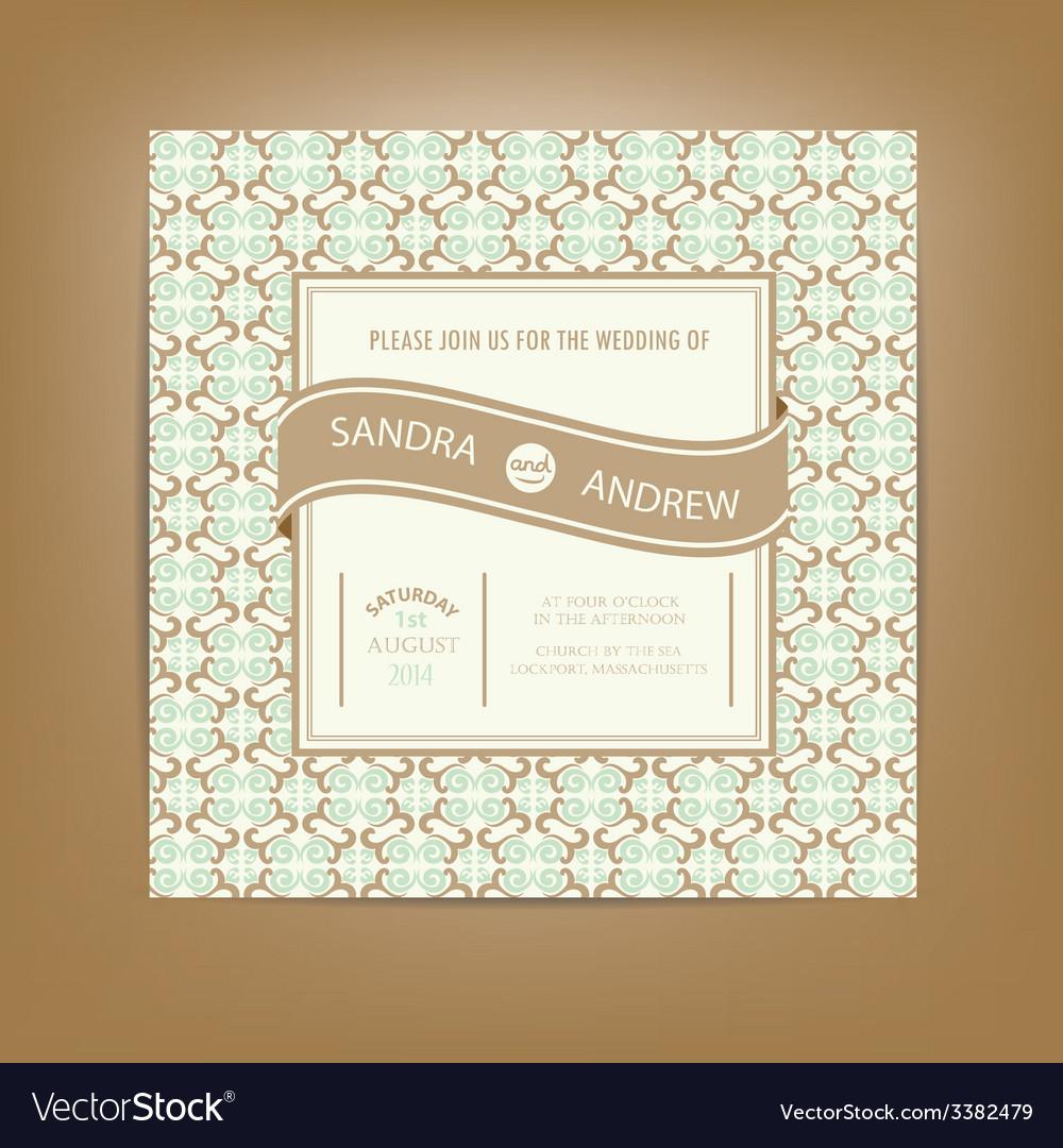 Vintage wedding invitation vector | Price: 1 Credit (USD $1)