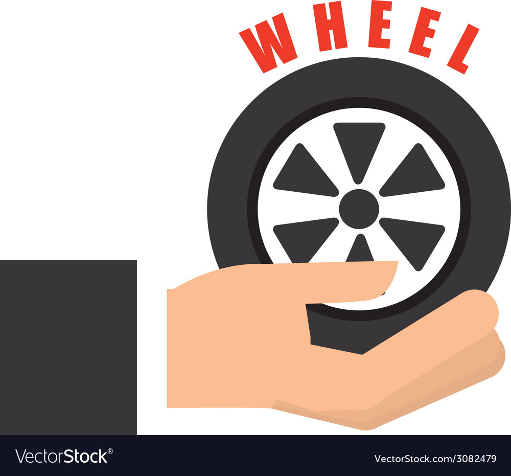 Wheel car design vector | Price: 1 Credit (USD $1)