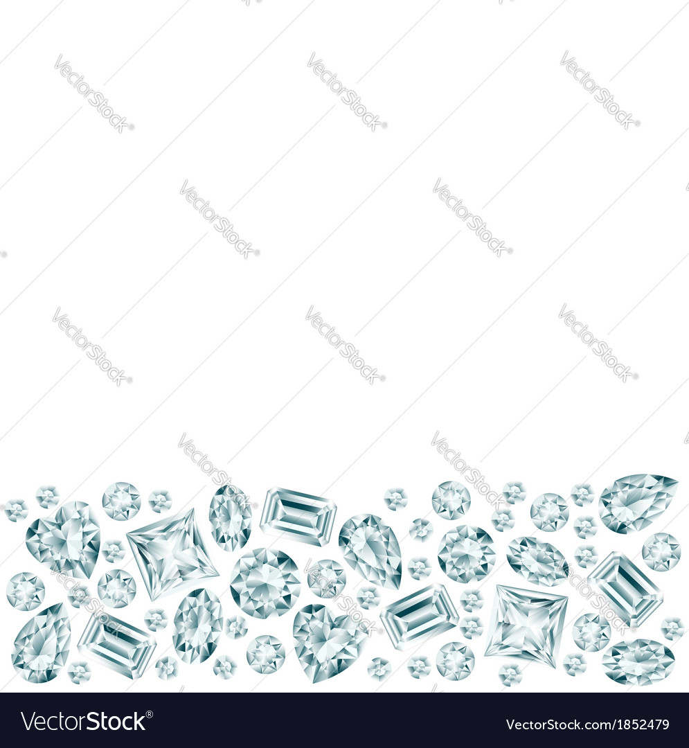 White background with diamond bottom vector   Price: 1 Credit (USD $1)