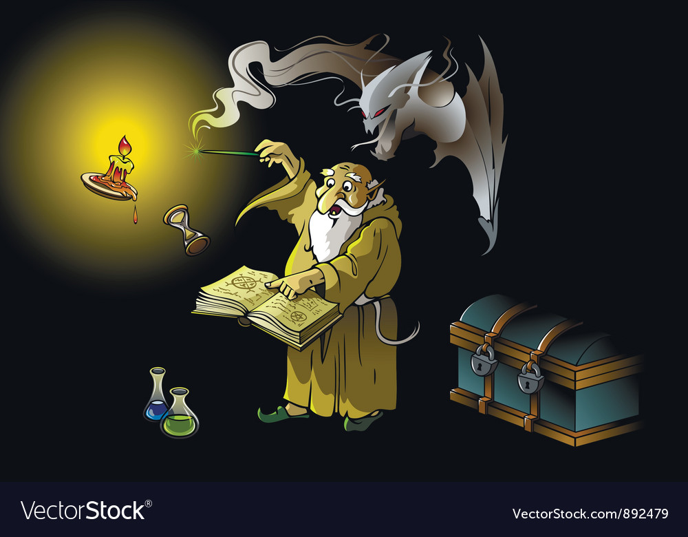 Wizard summons demon vector | Price: 3 Credit (USD $3)