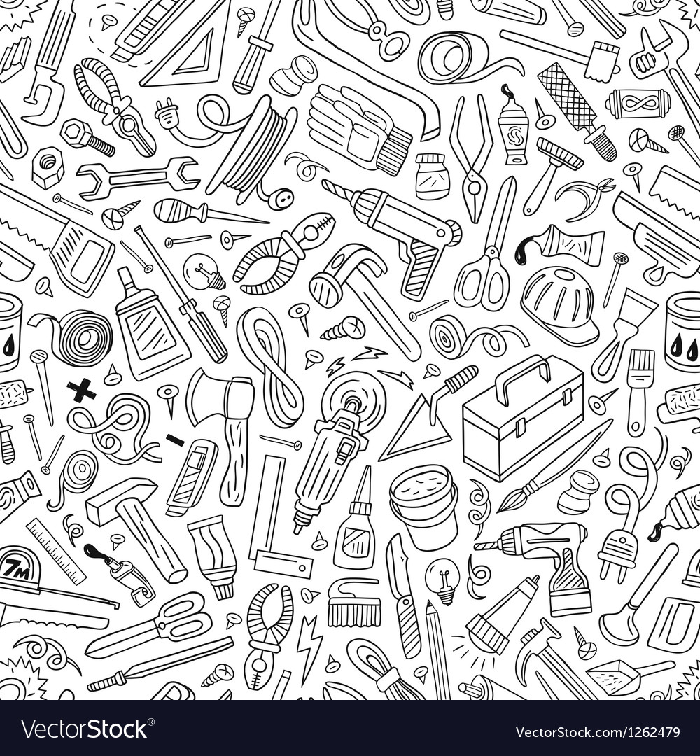 Working tools - seamless pattern vector | Price: 1 Credit (USD $1)