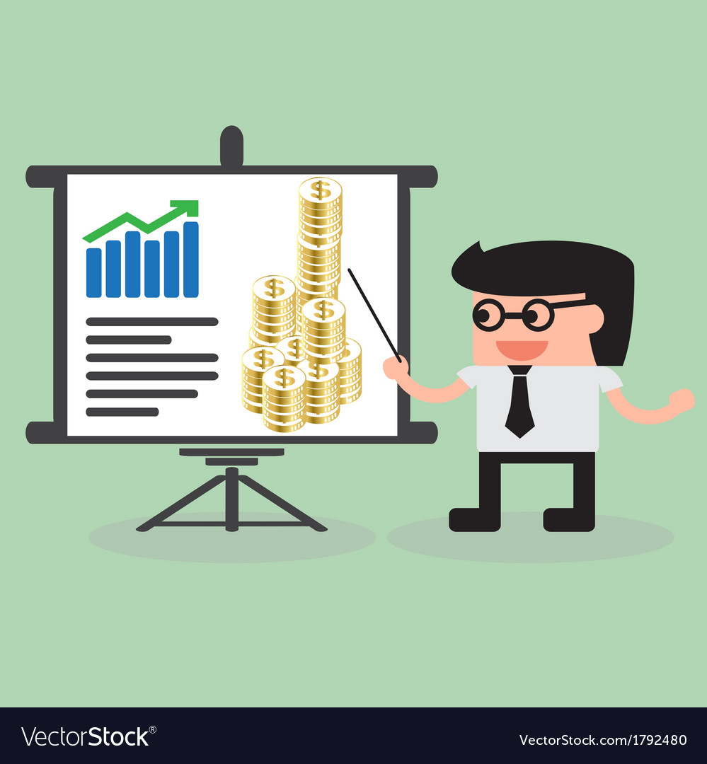 Businessman presentation vector | Price: 1 Credit (USD $1)