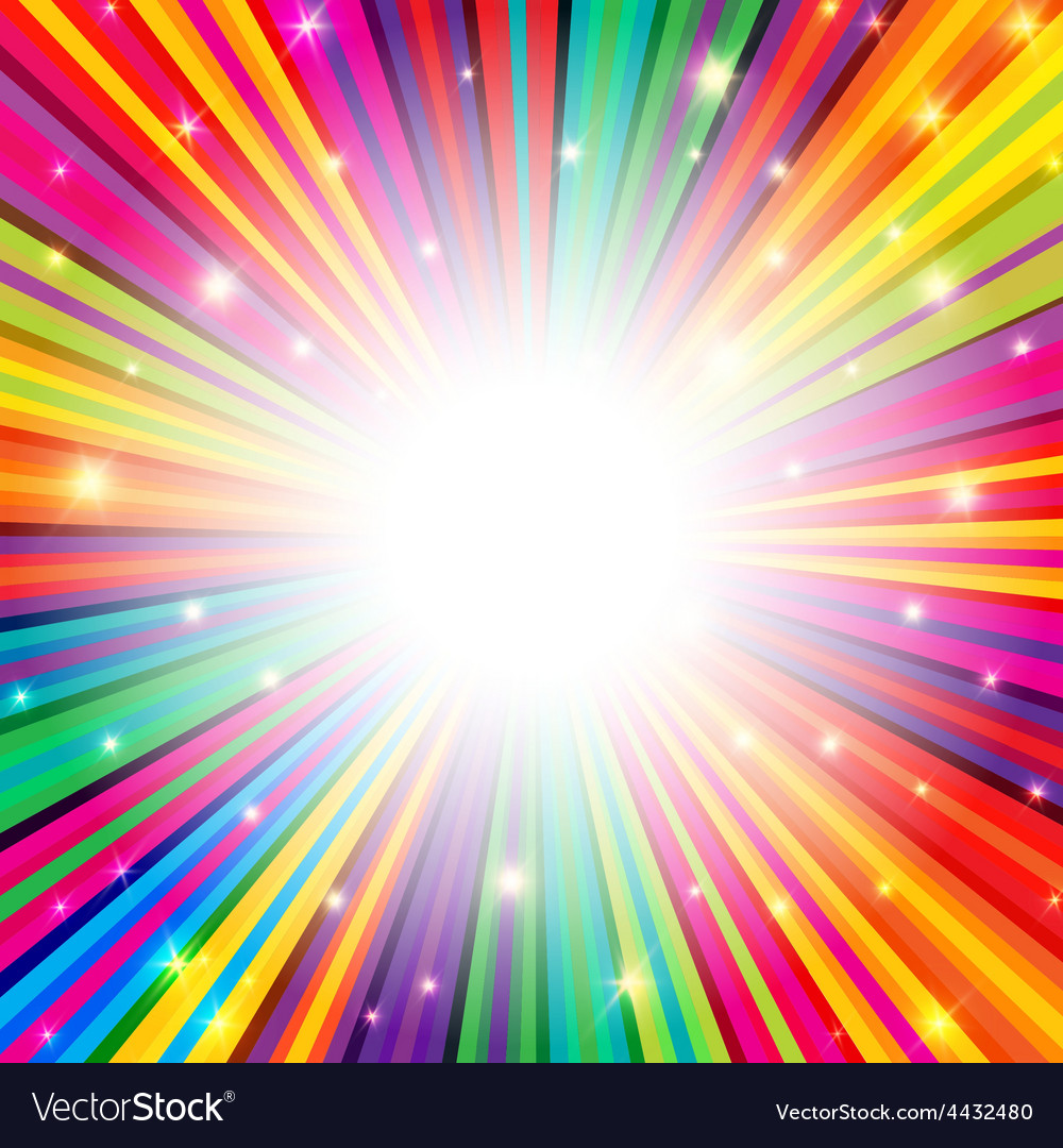 Colorful background rays empty vector | Price: 1 Credit (USD $1)