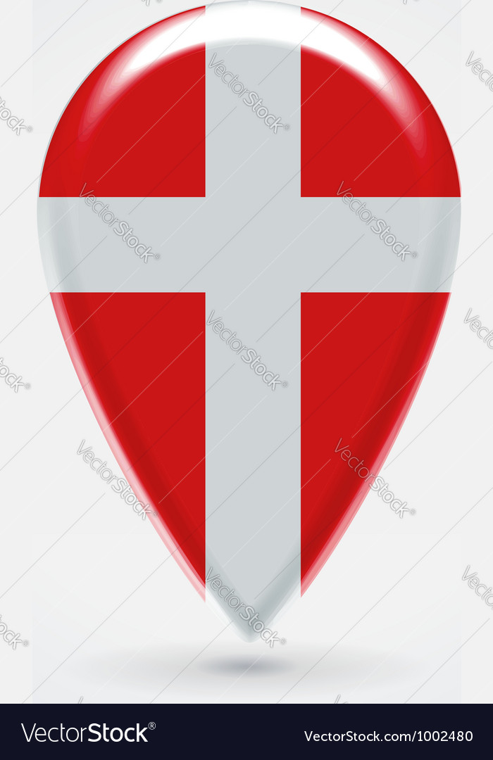 Denmark icon point for map vector | Price: 1 Credit (USD $1)