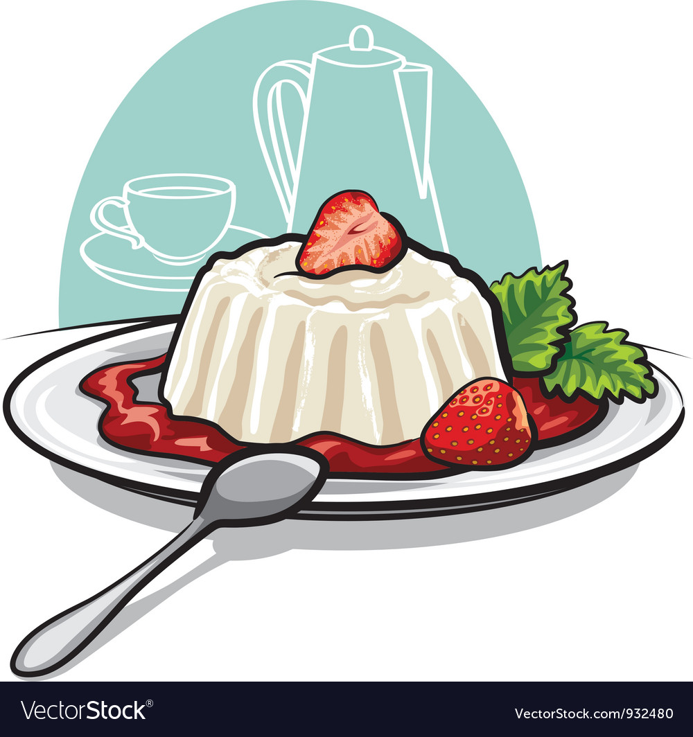 Dessert with cream vector | Price: 3 Credit (USD $3)