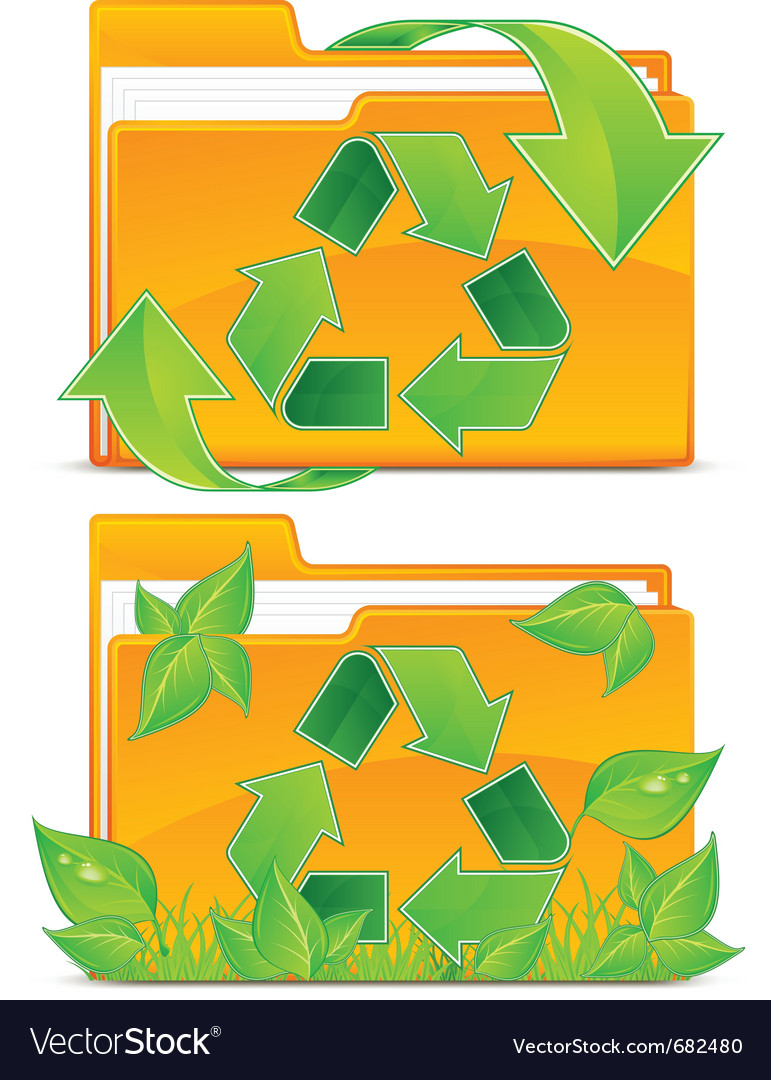Folders green plants vector | Price: 1 Credit (USD $1)