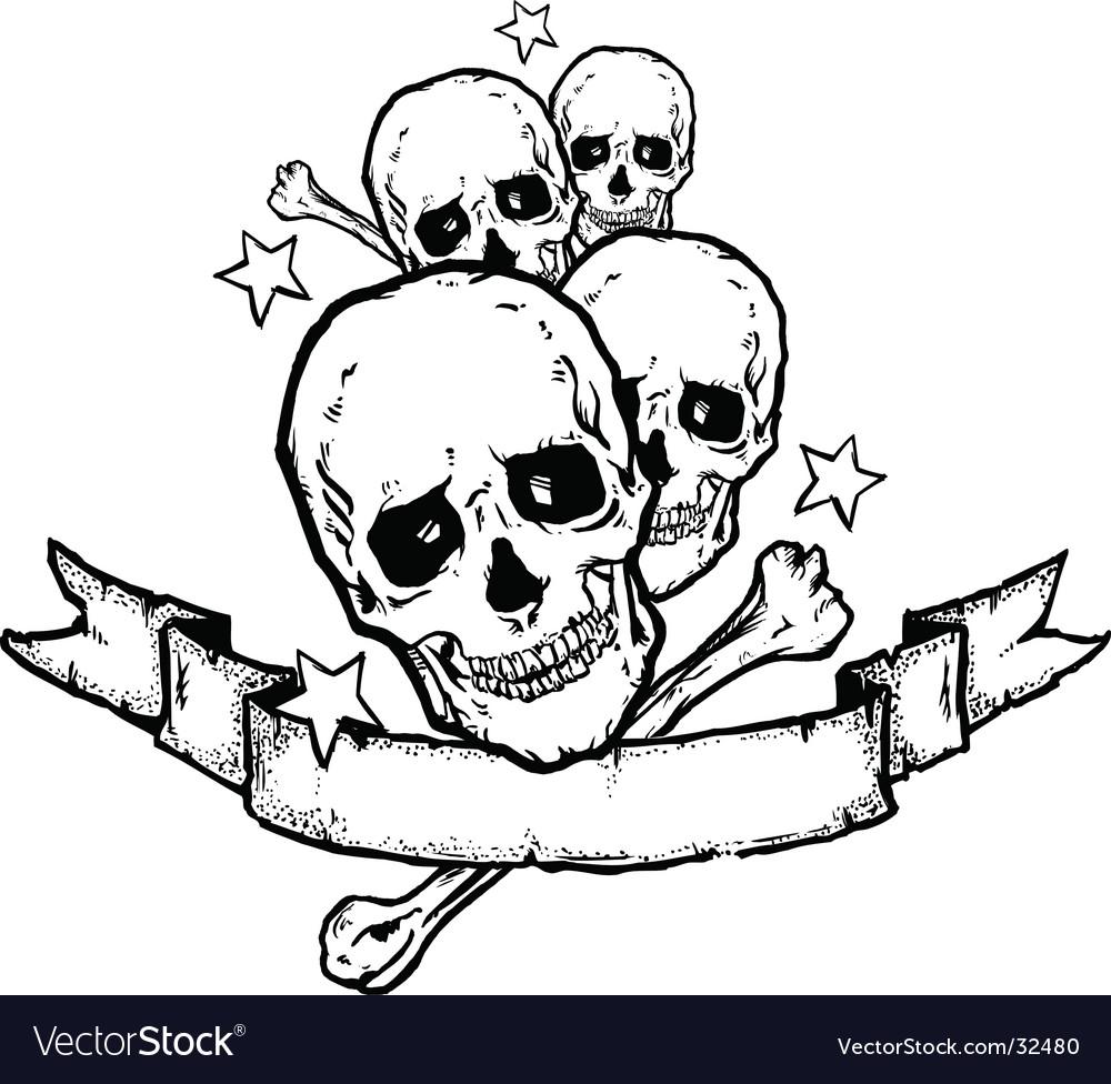 Heavy metal rock banner tattoo vector   Price: 1 Credit (USD $1)