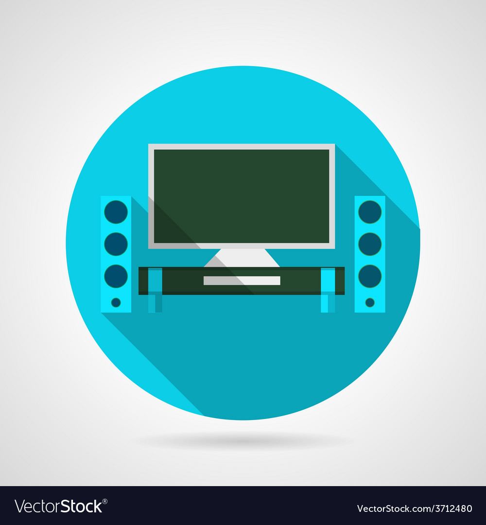 Home theater flat icon vector | Price: 1 Credit (USD $1)