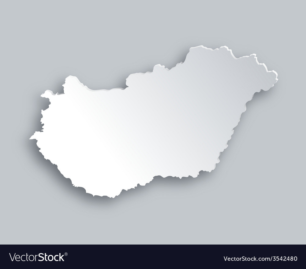 Map of hungary vector | Price: 1 Credit (USD $1)