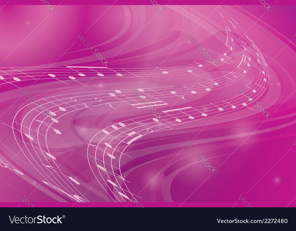 Music wavy pink background vector | Price: 1 Credit (USD $1)