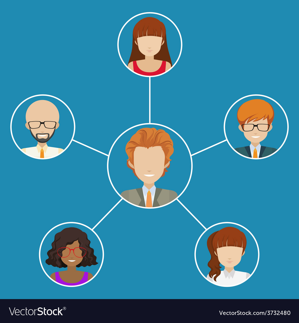 Network of people vector | Price: 1 Credit (USD $1)