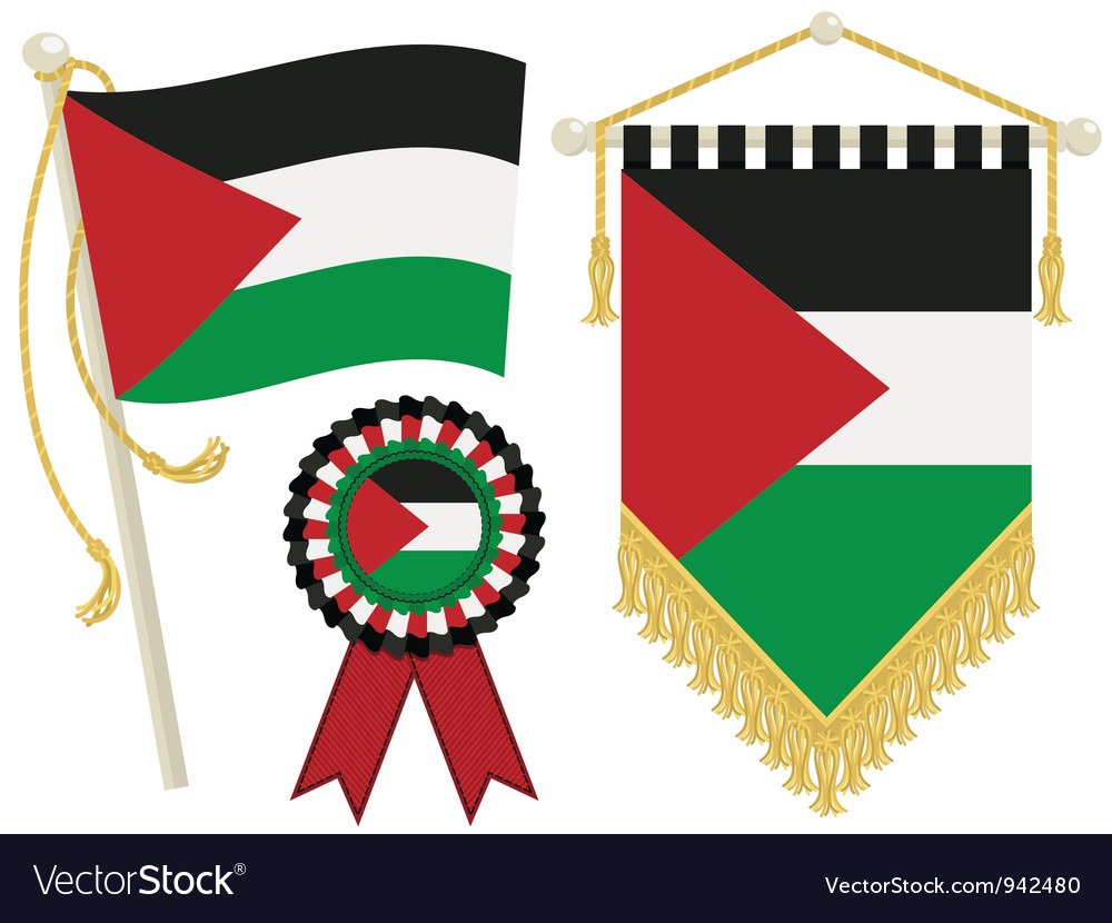 Palestine flags vector | Price: 1 Credit (USD $1)