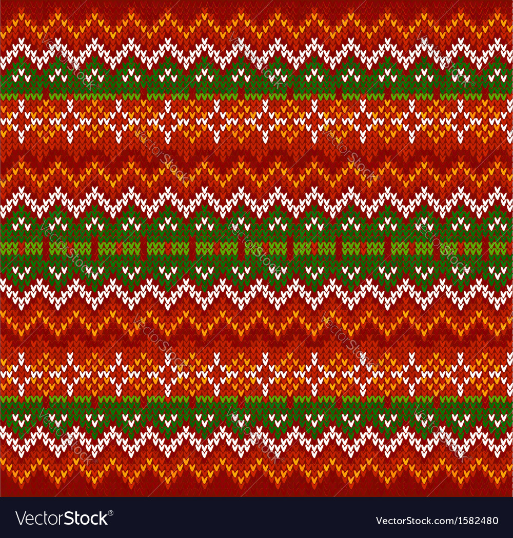 Red zigzag stripes knit seamless pattern vector | Price: 1 Credit (USD $1)