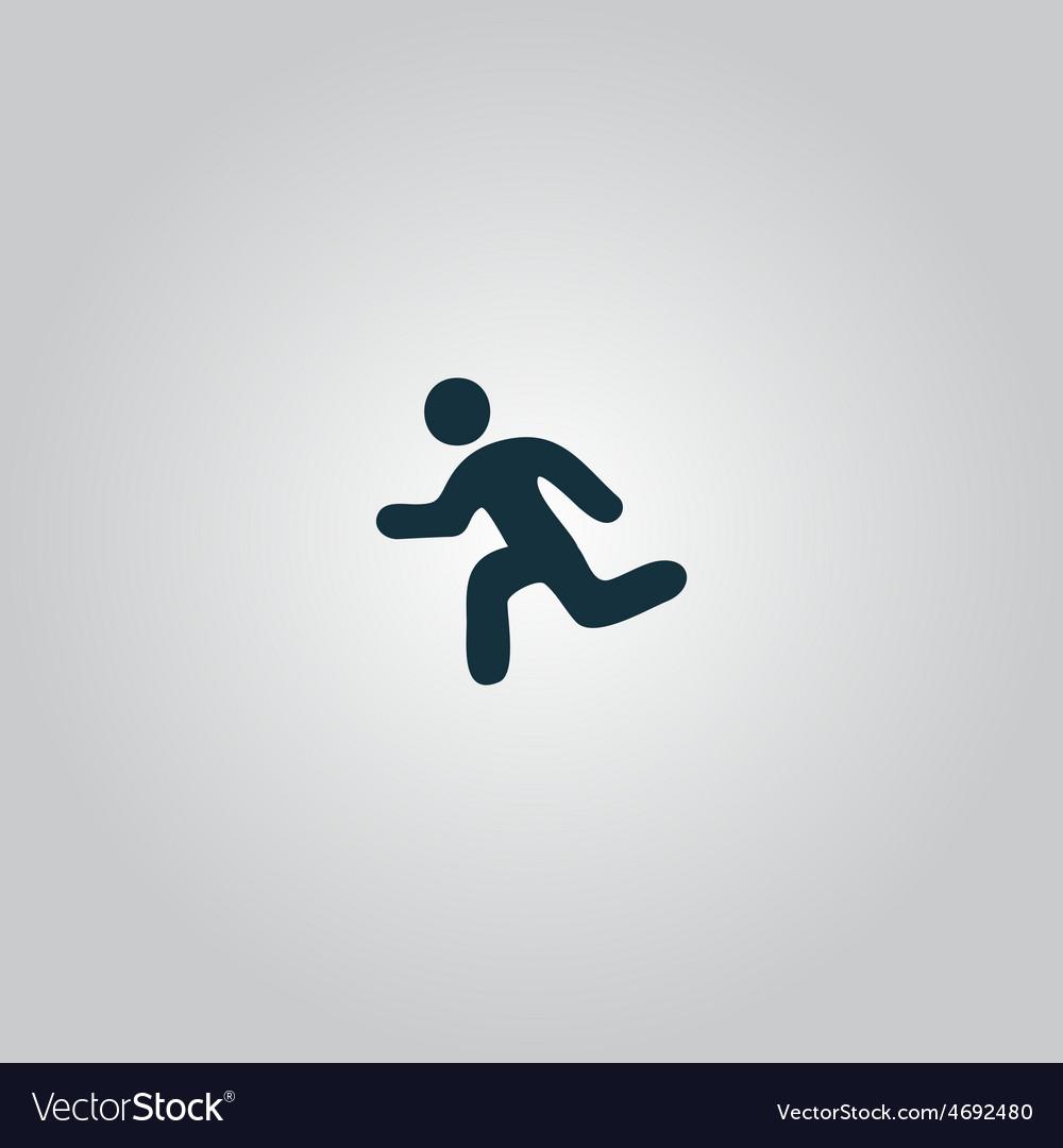 Running icon vector   Price: 1 Credit (USD $1)