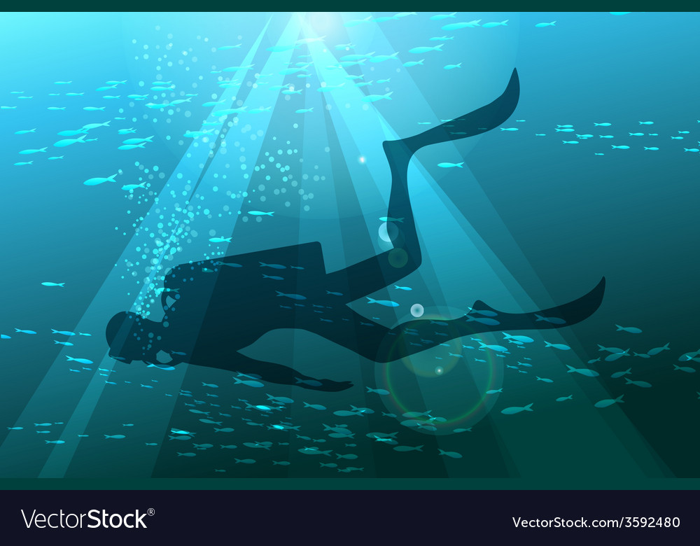 Scuba diver vector | Price: 3 Credit (USD $3)