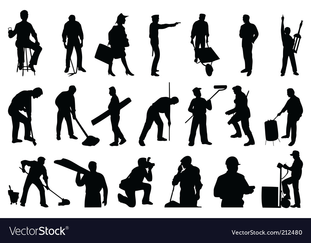 Working people vector | Price: 1 Credit (USD $1)