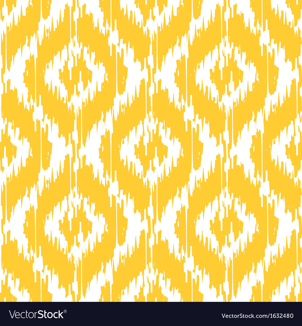 Yellow ikat ogee vector