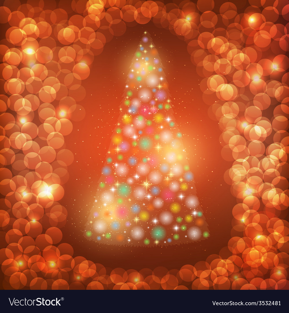 Abstract background with christmas tree vector