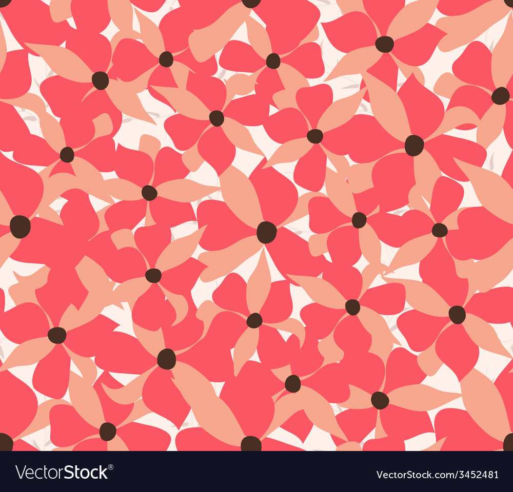 Decoration element floral style seamless vector | Price: 1 Credit (USD $1)