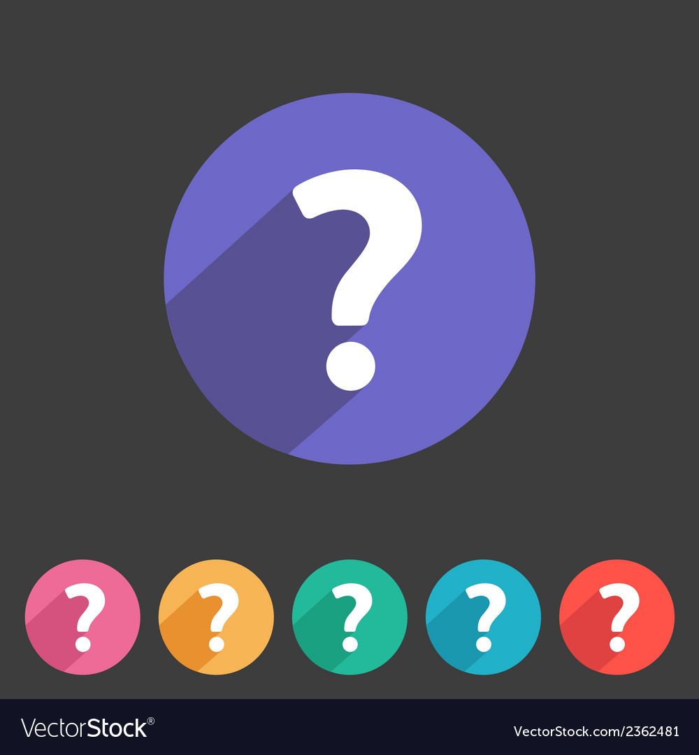 Flat game graphics icon question vector | Price: 1 Credit (USD $1)