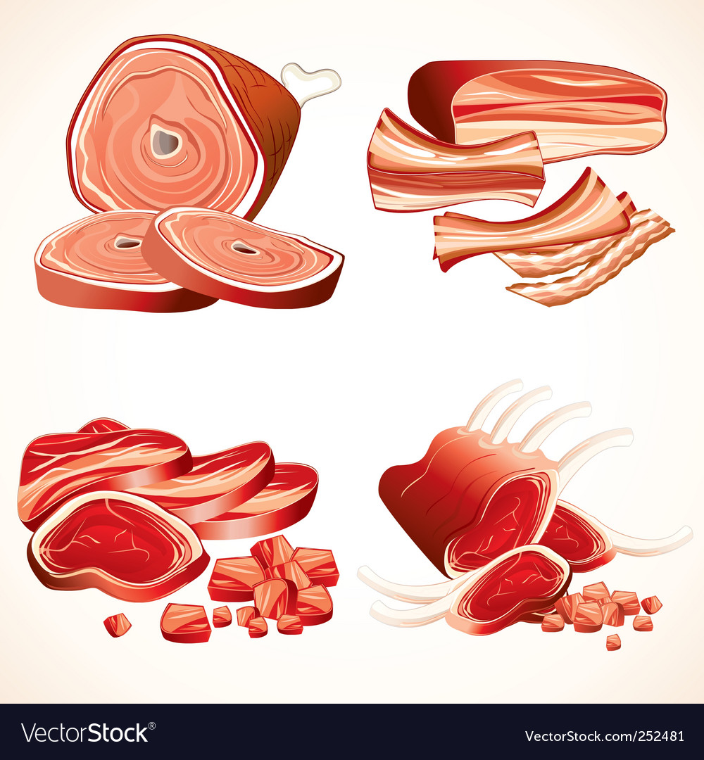 Meat collection vector | Price: 3 Credit (USD $3)