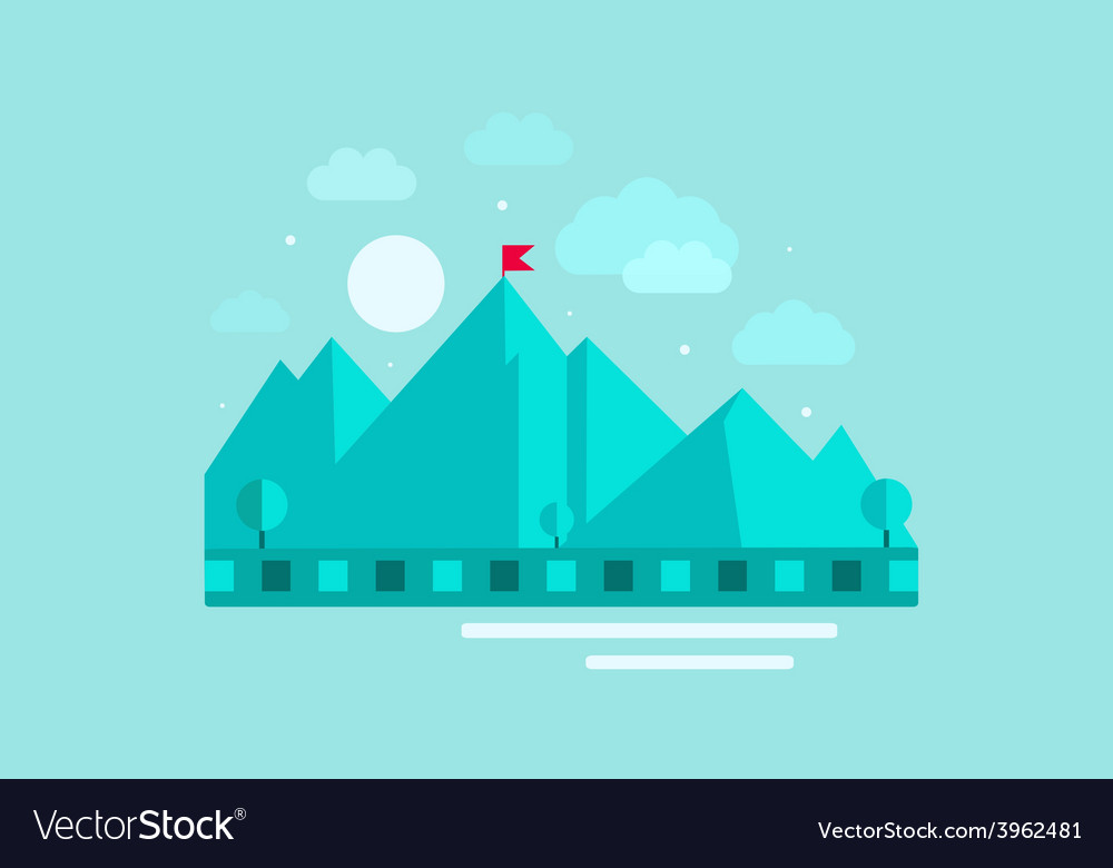 Mountains abstract with sky vector | Price: 1 Credit (USD $1)
