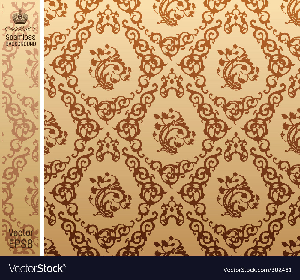 Seamless vintage background pattern brown vector | Price: 1 Credit (USD $1)