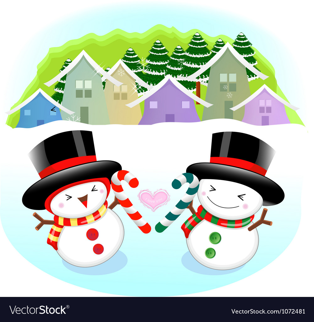 Snowman mascot the event activity christmas vector | Price: 3 Credit (USD $3)