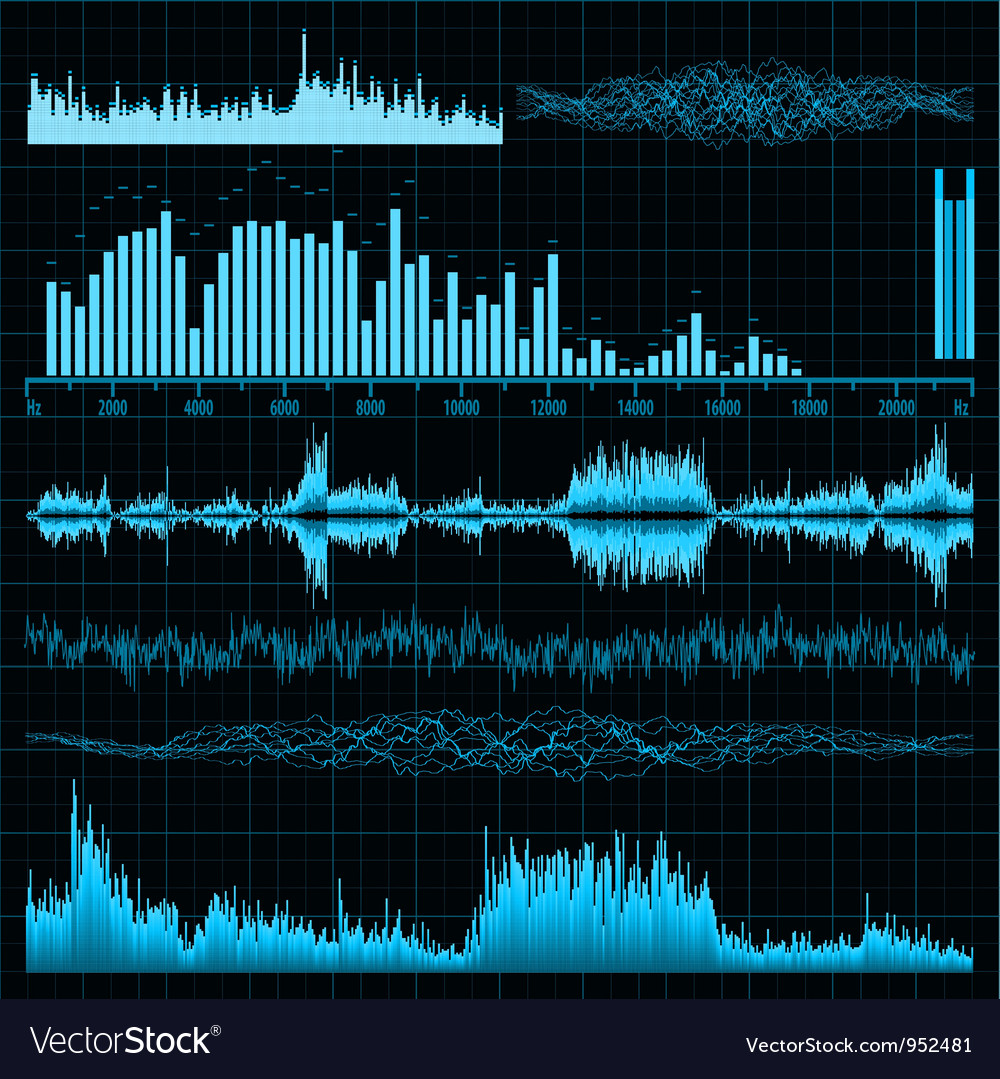 Sound diagrams vector | Price: 1 Credit (USD $1)