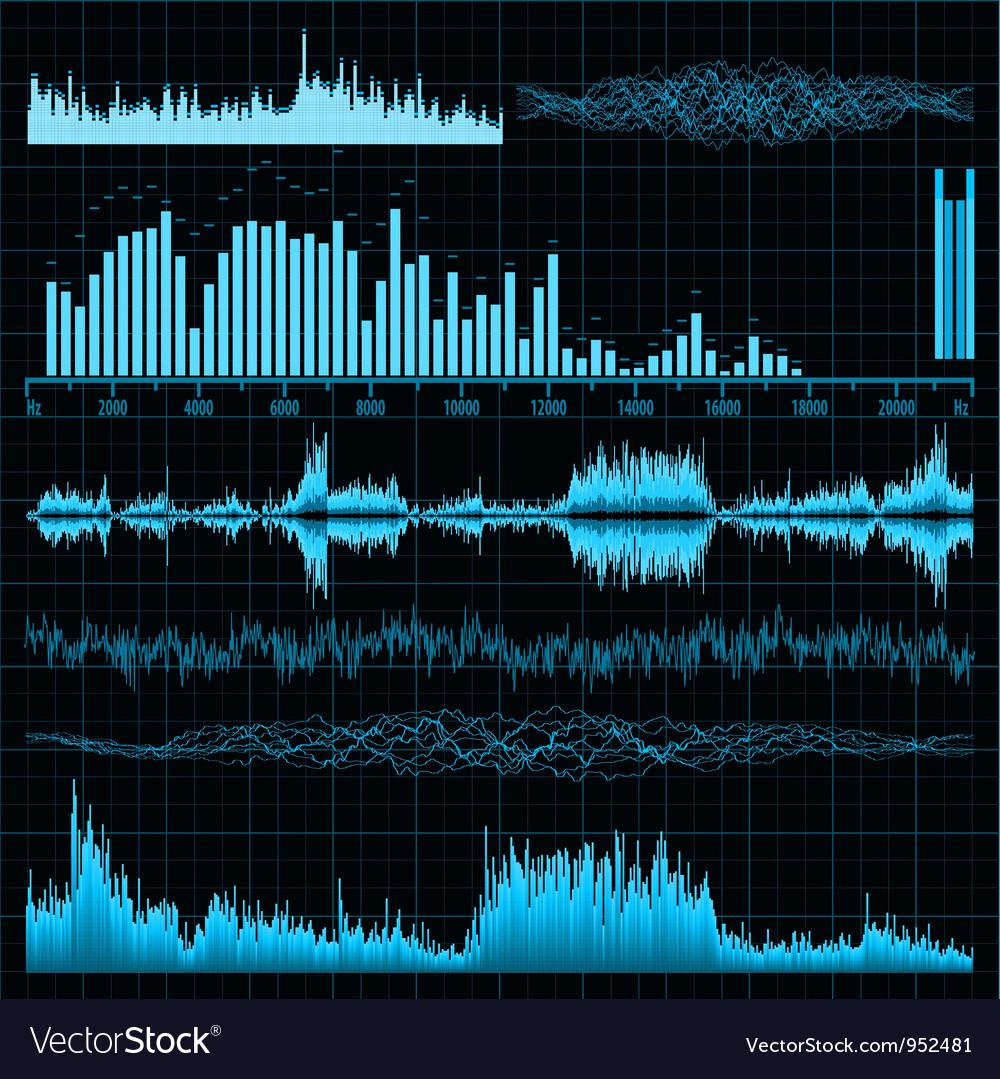 Sound diagrams vector | Price: 1 Credit (USD $1)